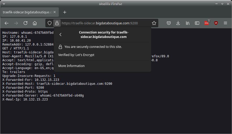 Secure WhoAmI via domain